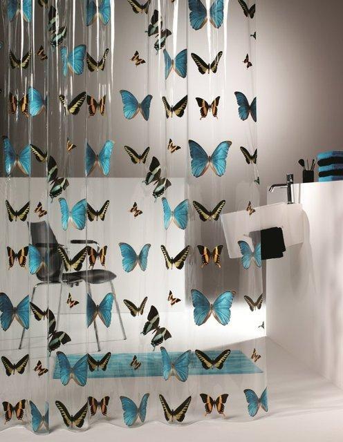 прозрачная виниловая штора