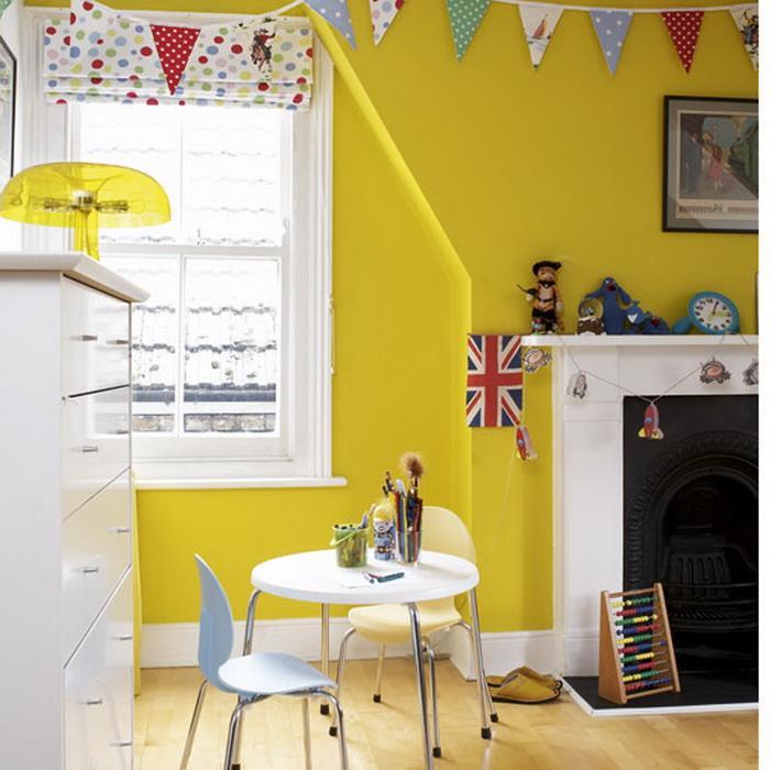 Оформление в желтом цвете для подростков