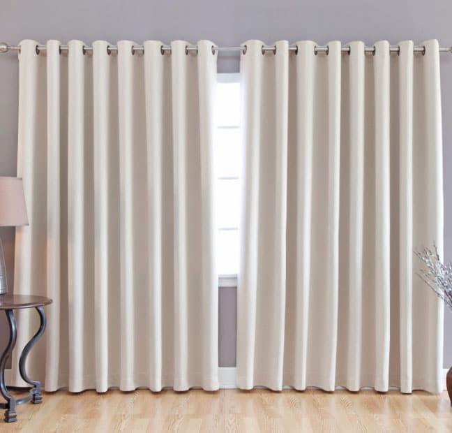 Плотные белые шторы