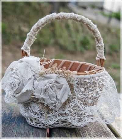 dekor korzinki iz starogo tjulja