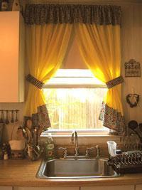 Модели штор для кухни