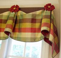 Подборе ткани для шторы на кухню
