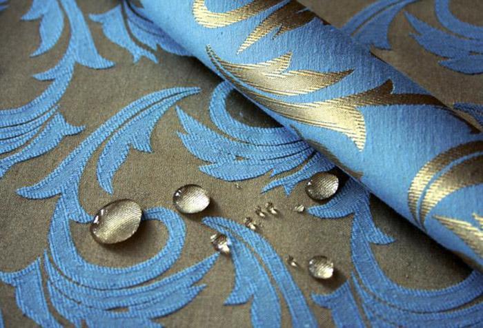 Натуральная ткань с водоотталкивающей пропиткой