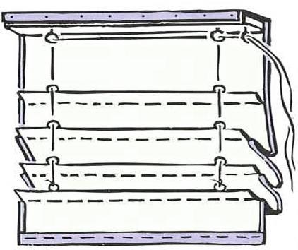 Как устроена римская штора, механизм подьема