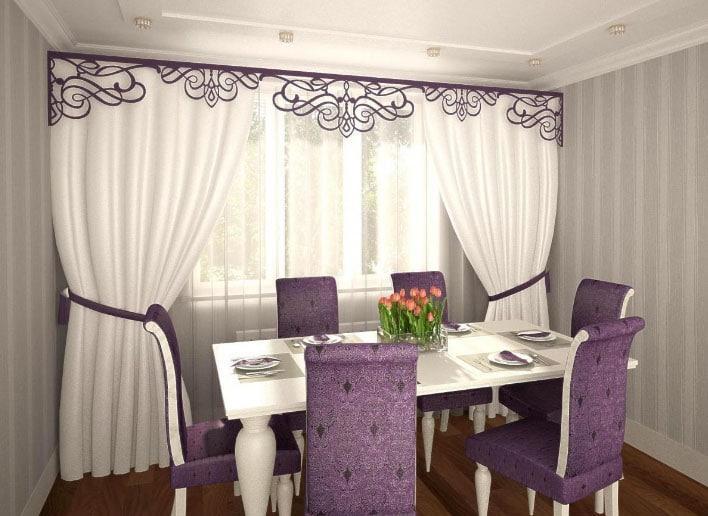 шторы на липучке в гостиной