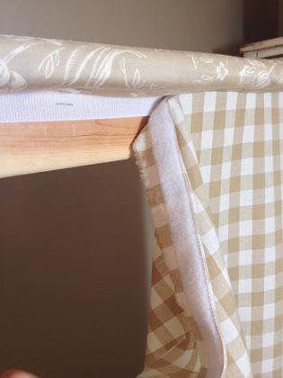 Как оформить брусок под шторы на липучке
