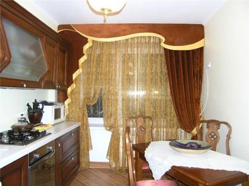 шторы в стиле модерн на кухню