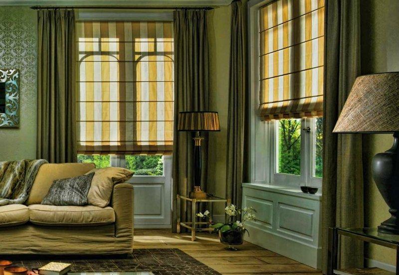 Римские шторы отлично смотрятся на любом окне и уместны почти в любом стиле интерьера
