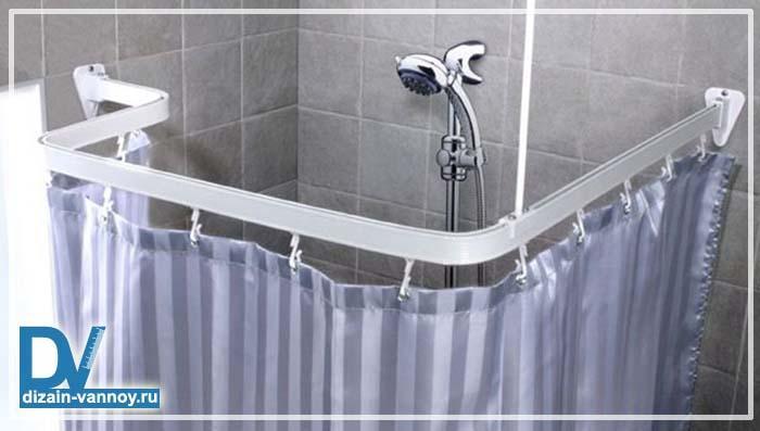 штанга для шторки в ванную