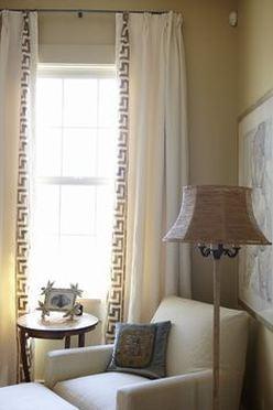 Фото штор в греческом стиле в интерьере