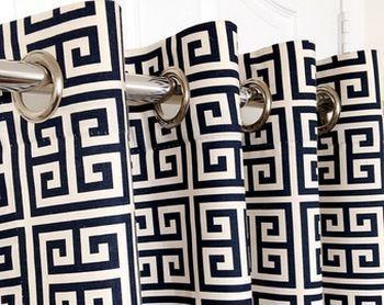 греческие шторы на люверсах