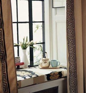 шторы греческие на кухне