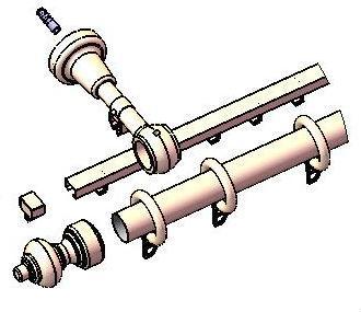 Этот рисунок хорошо показывает принцип монтажа круглого держателя