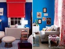 Как подобрать шторы под синие обои: Фото 3