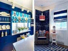 Как подобрать шторы под синие обои: Фото 2