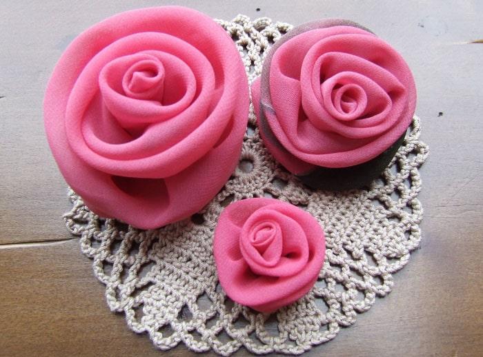 цветы из вышивки