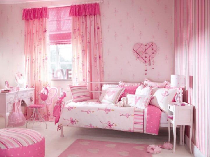 розовый интерьер комнаты