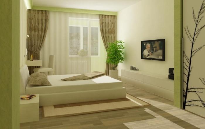 комната в зеленом цвете