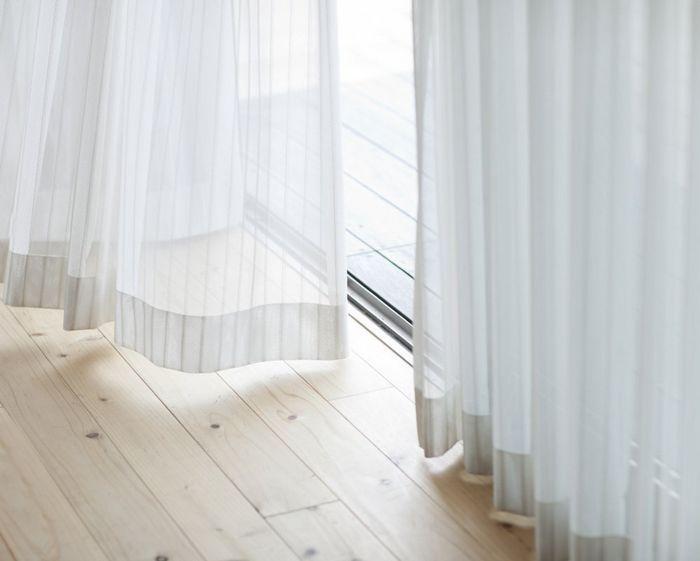 Обработка края у шторы