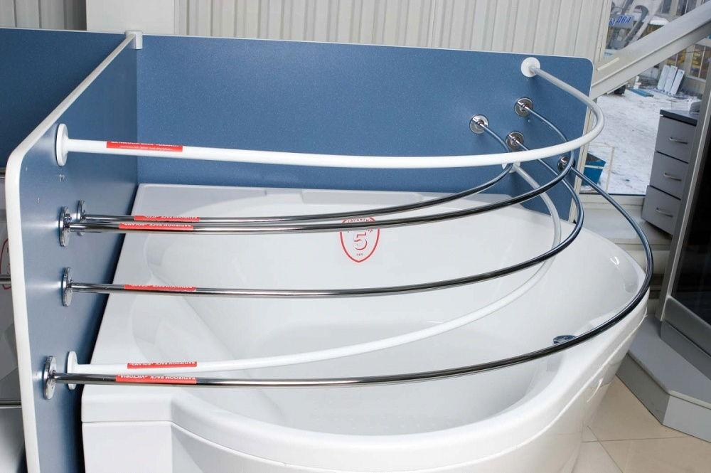 Можно выбрать материал, форму и диаметр конструкции с учетом размеров вашей ванны