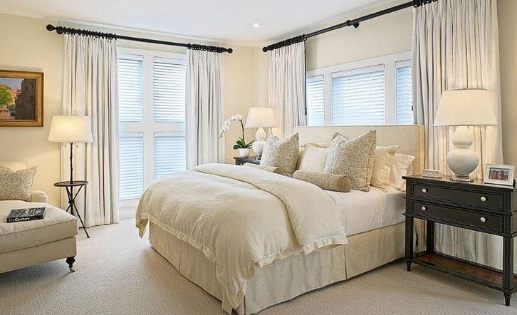 шторы в пол в спальне
