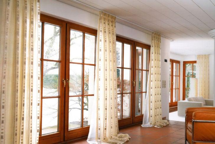 шторы в пол в зале