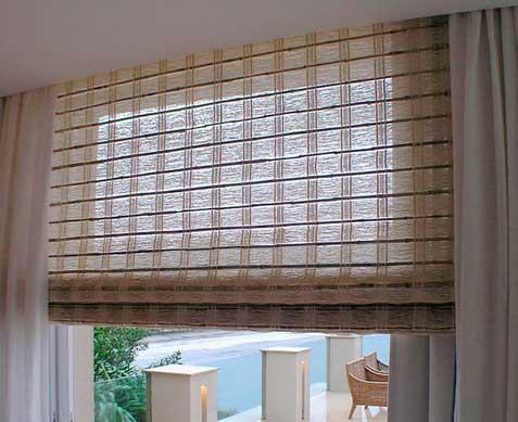 натуральные бамбуковые шторы