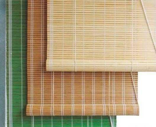 крепление бамбуковых штор