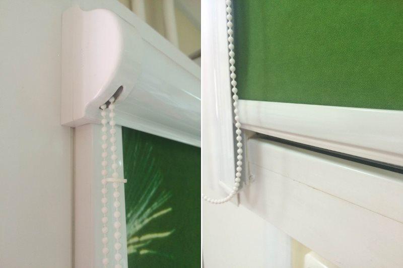 Нижнее положение утяжелителя на рулонной шторе UNI-2