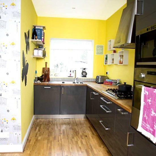 Желто-черная кухня