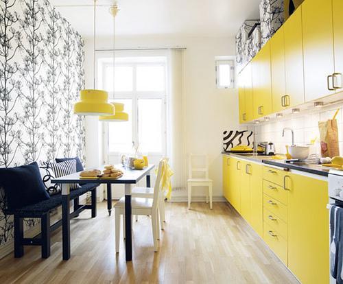 Декор желтой кухни