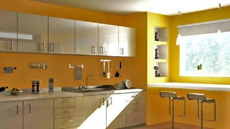 Выбор штор для желтой кухни