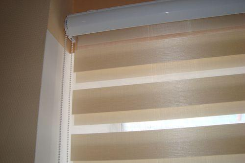 Карниз с рулонными шторами