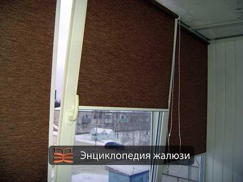 Рулонные шторы из джута