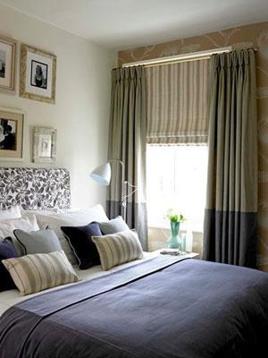 Ткань римских штор для спальни