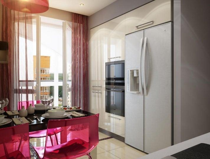 белорусские шторы в интерьере кухни
