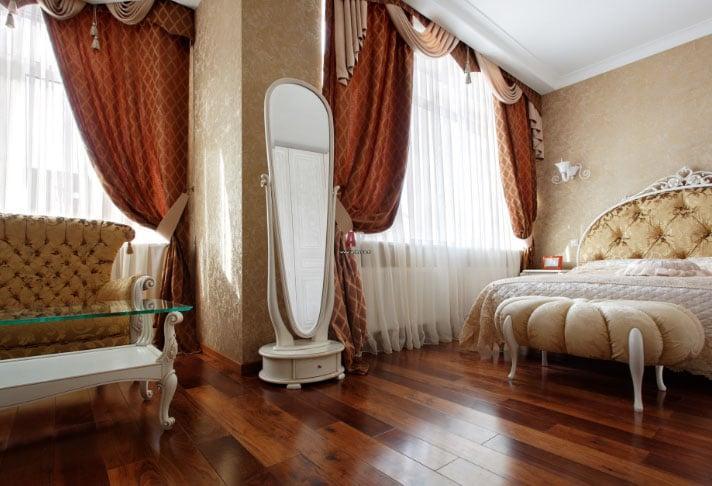 белорусские шторы в спальне