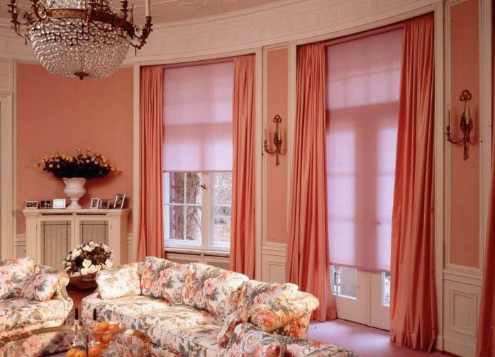 белорусские шторы в интерьере гостиной