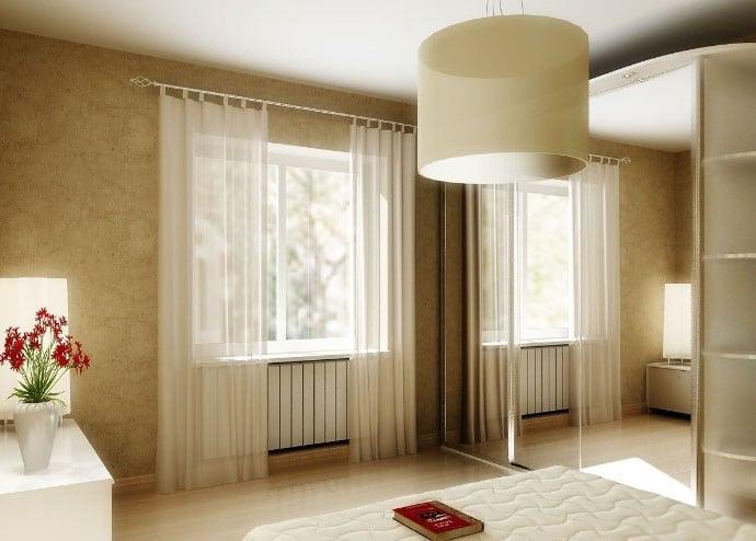 белорусские шторы в интерьере спальни