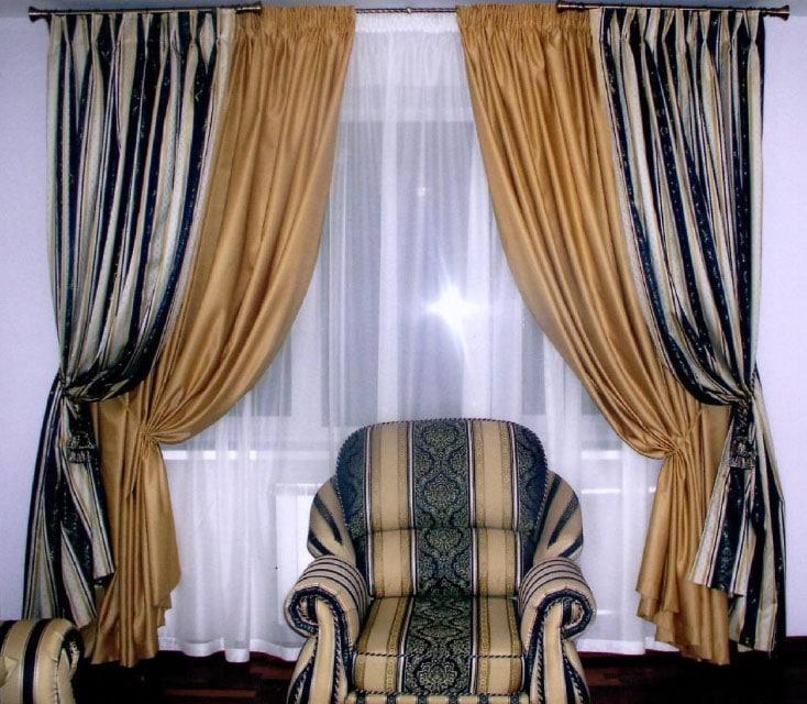 белорусские шторы в интерьере зала