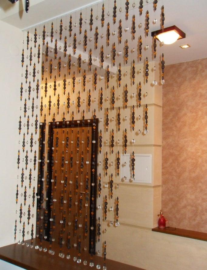 Деревянные шторы для дверных проемов