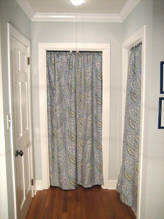 Шторы в проеме межкомнатных дверей