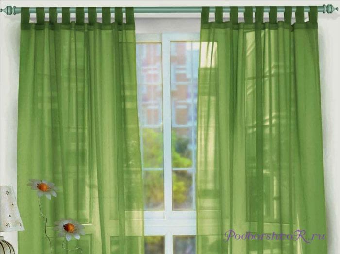 Простые прямоугольные шторы