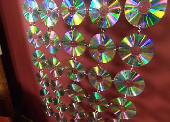 занавеска из дисков