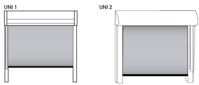 Рулонные шторы UNI1 и UNI2