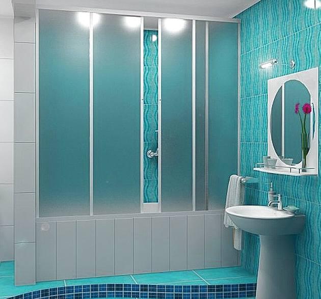 Высота пластиковых штор в ванную