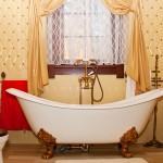 Luxury vintage bathroom interior