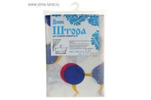 Штора для ванной PEVA LUX 180х180см Круги красно-синие. Артикул: PEVA05/06