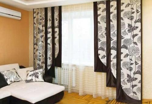 Японские панели или экранные шторы могут стать акцентом в любом интерьерном стиле