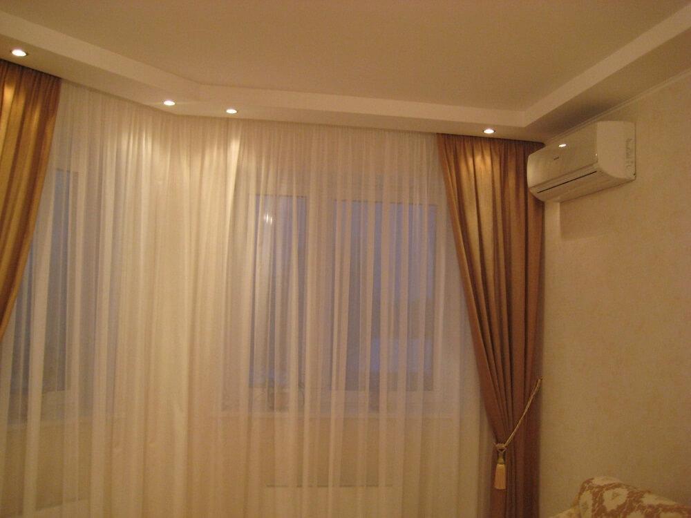 Точечное освещение шторы